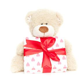 Baby Bärchen mit Geschenk