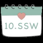 10. SSW 10. Schwangerschaftswoche im Kalender im 3. Schwangerschaftsmonat