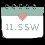 11. SSW 11. Schwangerschaftswoche im Kalender im 3. Schwangerschaftsmonat