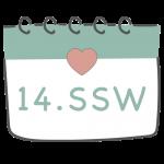 14. SSW 14. Schwangerschaftswoche im Kalender im 4. Schwangerschaftsmonat