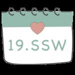 19. SSW 19. Schwangerschaftswoche im Kalender im 5. Schwangerschaftsmonat