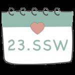 23. SSW 23. Schwangerschaftswoche im Kalender im 6. Schwangerschaftsmonat