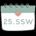 25. SSW 25. Schwangerschaftswoche im Kalender im 7. Schwangerschaftsmonat
