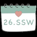 26. SSW 26. Schwangerschaftswoche im Kalender im 7. Schwangerschaftsmonat