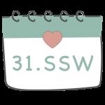 31. SSW 31. Schwangerschaftswoche im Kalender im 8. Schwangerschaftsmonat