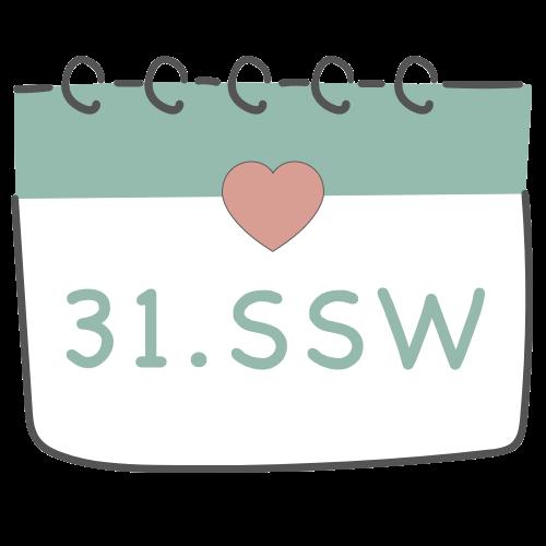 31. SSW - 31. Schwangerschaftswoche