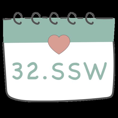 32. SSW - 32. Schwangerschaftswoche