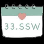 33. SSW 33. Schwangerschaftswoche im Kalender im 9. Schwangerschaftsmonat