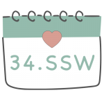 34. SSW 34. Schwangerschaftswoche im Kalender im 9. Schwangerschaftsmonat