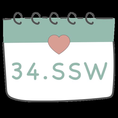34. SSW - 34. Schwangerschaftswoche