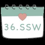 36. SSW 36. Schwangerschaftswoche im Kalender im 9. Schwangerschaftsmonat
