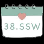 38. SSW 38. Schwangerschaftswoche im Kalender im 10. Schwangerschaftsmonat