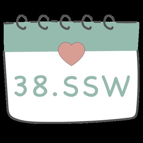 38. SSW - 38. Schwangerschaftswoche