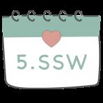 5. SSW 5. Schwangerschaftswoche im Kalender im 2. Schwangerschaftsmonat