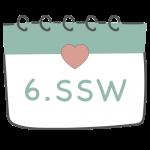 6. SSW 6. Schwangerschaftswoche im Kalender im 2. Schwangerschaftsmonat