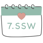 7. SSW 7. Schwangerschaftswoche im Kalender im 2. Schwangerschaftsmonat