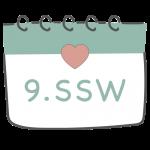 9. SSW 9. Schwangerschaftswoche im Kalender im 3. Schwangerschaftsmonat