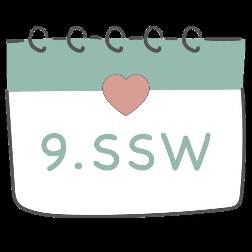 9. SSW - 9. Schwangerschaftswoche